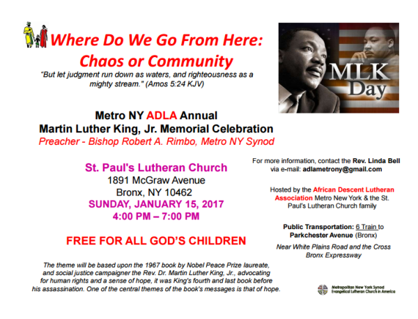 MLK Day Celebration: New York, NY